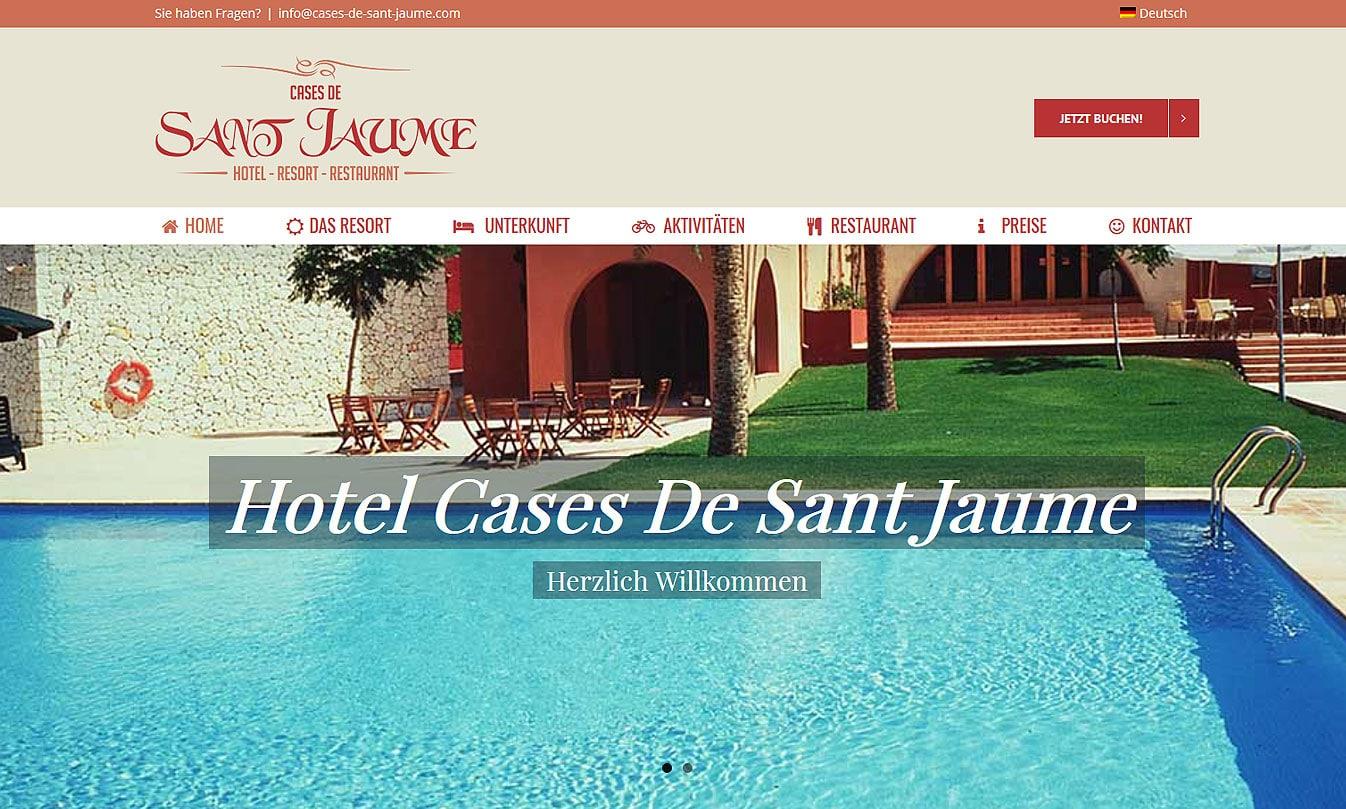 Webpräsenz Cases de Sant Jaume cases web  Show it cases web
