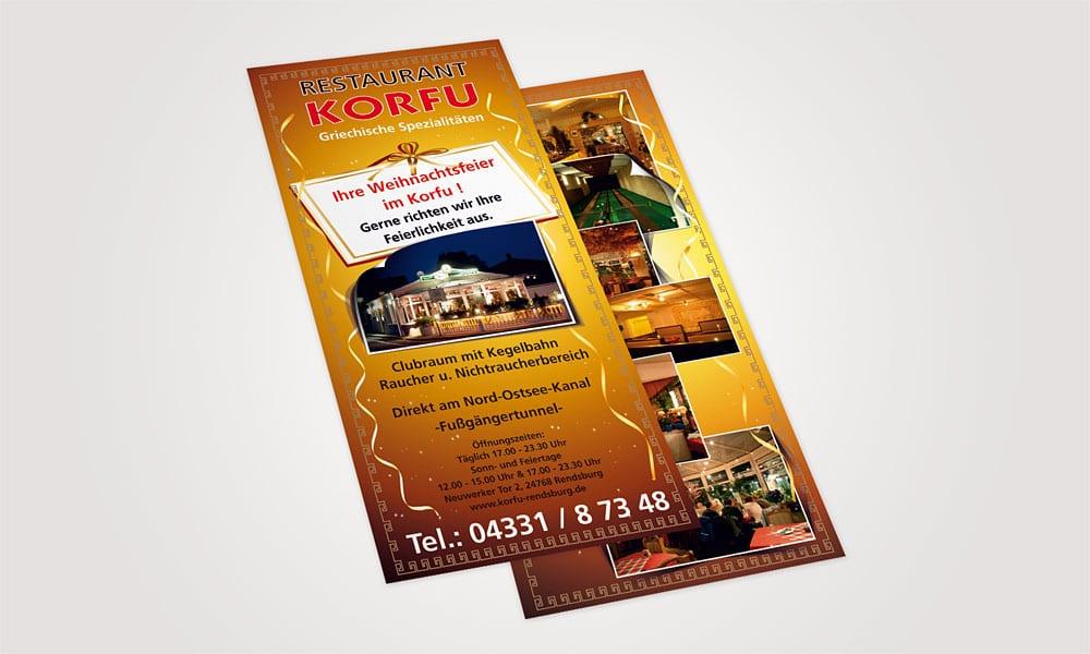 Flyer Restaurant Korfu korfu 1  Show it korfu 1