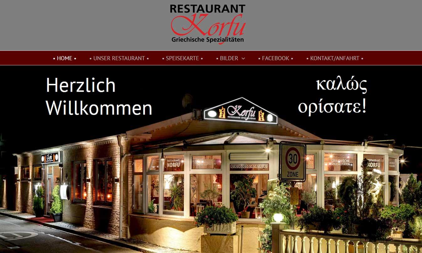 Webpräsenz Restaurant Korfu Rendsburg korfu rd  Show it korfu rd