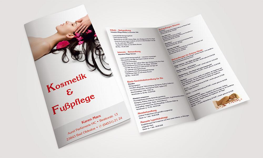 Flyer Kosmetik & Fußpflege kosmetik  Show it kosmetik