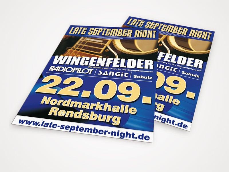 Plakate Late September Nights late september  Show it late september