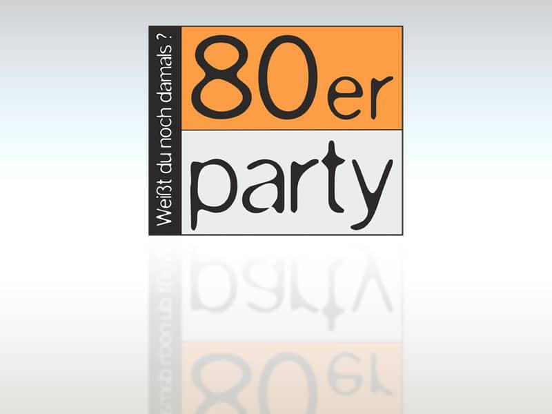 Logo 80er Party lt 80er  Show it lt 80er