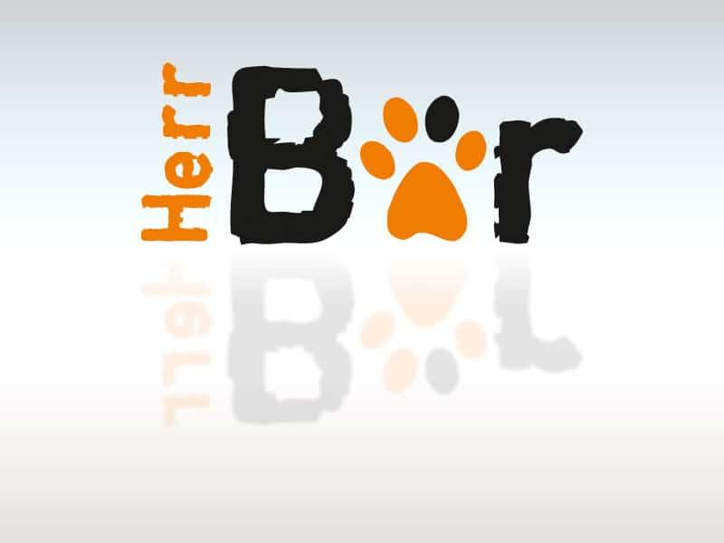 Logodesign Herr Bär lt baer  Show it lt baer