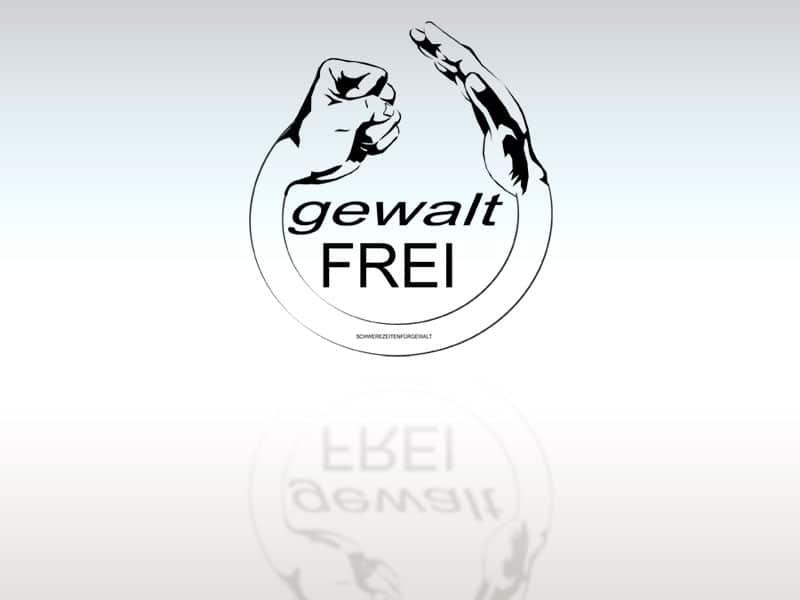 Logodesign Gewaltfrei lt gewaltfrei  Show it lt gewaltfrei