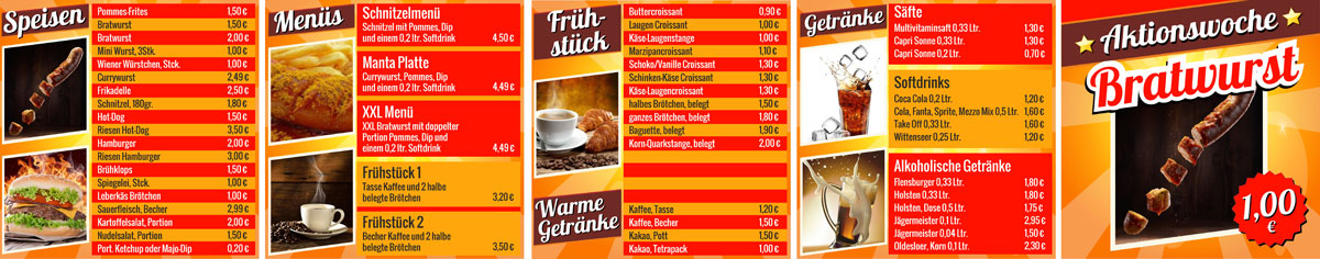 Menüboard Mr. Bratwurst mr bratwurst  Show it mr bratwurst