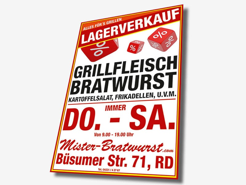A0 Plakat Lagerverkauf plakat lagerverkauf  Show it plakat lagerverkauf