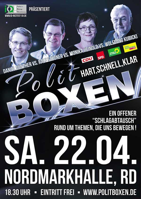Plakat, Flyer Politboxen politboxen plakat  Show it politboxen plakat