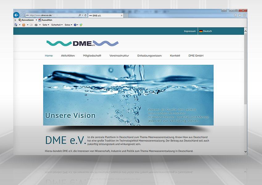 Webpräsenz DME web dme  Show it web dme
