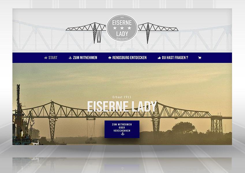 Webdesign mit Shop Eiserne Lady