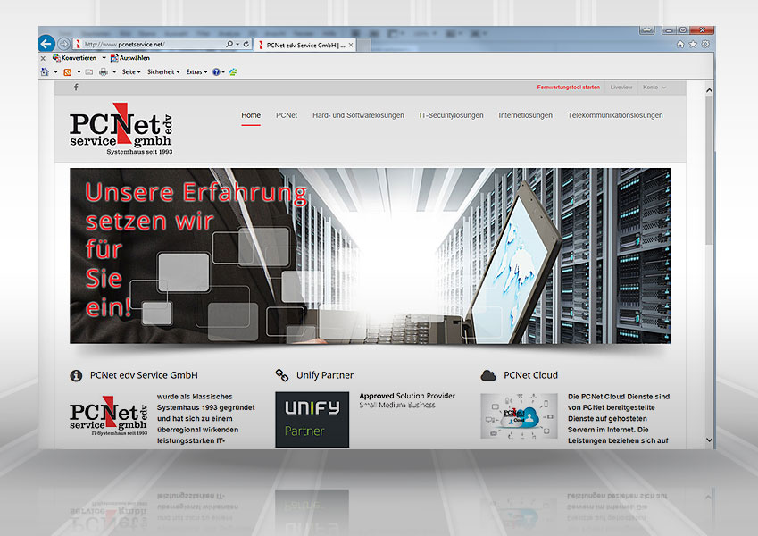 Webdesign PCNet web pcnet 1  Show it web pcnet 1