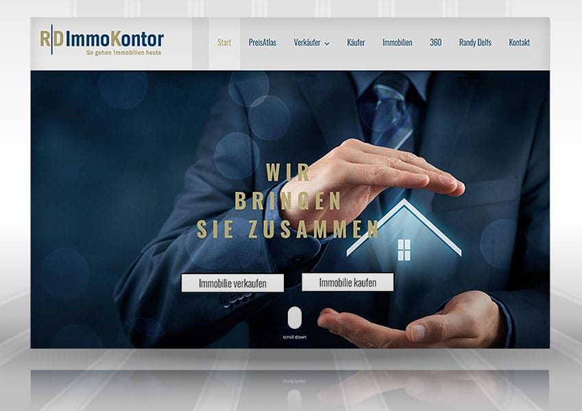 Webdesign Immokontor web rd  Show it web rd