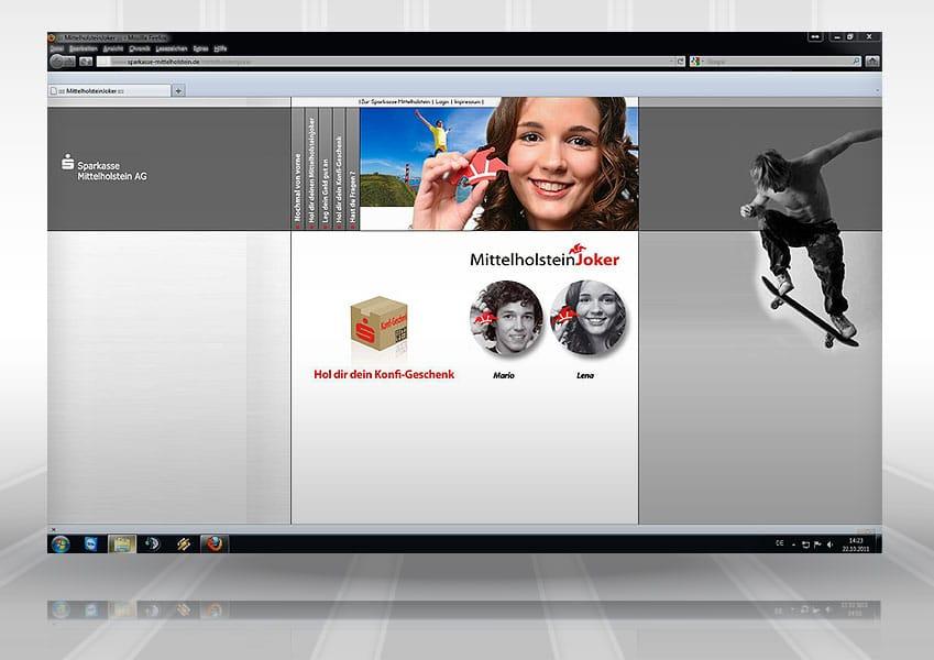 Webpräsenz Mittelholsteinjoker web sparkasse 1  Show it web sparkasse 1